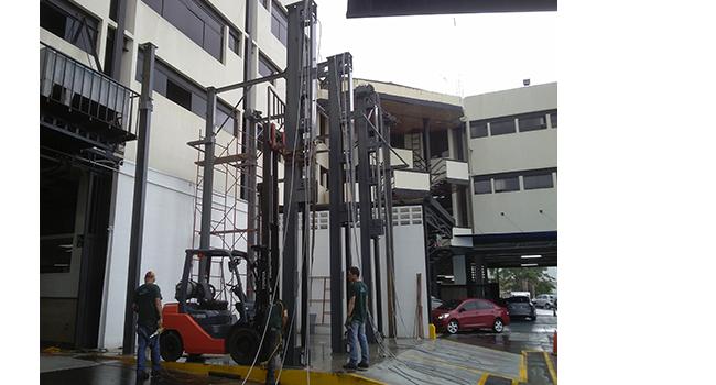 3 Car Stacker Storage Parking Lift 650x350